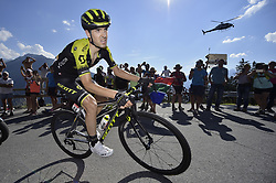 July 18, 2018 - Le Grand Bornand, FRANCE - Spanish Mikel Nieve of Mitchelton-Scott pictured in action during the eleventh stage in the 105th edition of the Tour de France cycling race, 108.5 km from ALbertville to La Rosiere Espace San Bernardo, France, Wednesday 18 July 2018. This year's Tour de France takes place from July 7th to July 29th. BELGA PHOTO YORICK JANSENS (Credit Image: © Yorick Jansens/Belga via ZUMA Press)