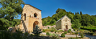 Pictures and images of the historic medieval Gate house and chapel of Kintsvisi Monastery Georgian Orthodox Monastery complex, Shida Kartli Region, Georgia (country). .<br /> <br /> Visit our MEDIEVAL PHOTO COLLECTIONS for more   photos  to download or buy as prints https://funkystock.photoshelter.com/gallery-collection/Medieval-Middle-Ages-Historic-Places-Arcaeological-Sites-Pictures-Images-of/C0000B5ZA54_WD0s<br /> <br /> Visit our REPUBLIC of GEORGIA HISTORIC PLACES PHOTO COLLECTIONS for more photos to browse, download or buy as wall art prints https://funkystock.photoshelter.com/gallery-collection/Pictures-Images-of-Georgia-Country-Historic-Landmark-Places-Museum-Antiquities/C0000c1oD9eVkh9c