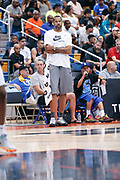THOUSAND OAKS, CA Sunday, August 12, 2018 - Nike Basketball Academy. Rasheed Wallace watches from the bench. <br /> NOTE TO USER: Mandatory Copyright Notice: Photo by John Lopez / Nike