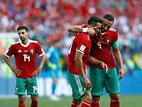 Mehdi Benatia (Morocco) and Nabil Dirar (Morocco)<br /> Moscow 20-06-2018 Football FIFA World Cup Russia  2018 <br /> Portugal - Morocco / Portogallo - Marocco <br /> Foto Matteo Ciambelli/Insidefoto