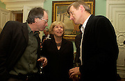 Ian McEwan, Barbara Epstein and Julian Barnes,  The New York Review Of Books - 40th anniversary party, English Speaking Union, 13 October 2003. © Copyright Photograph by Dafydd Jones 66 Stockwell Park Rd. London SW9 0DA Tel 020 7733 0108 www.dafjones.com