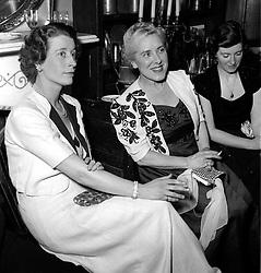 Paddock Wood End of Term Dance - 8th December 1951.<br /> ROSETTE SAVILL and MRS J BUCKLEY-SIDEBOTTOM