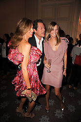 MALIN JEFFERIES, ARKI BUSSON and HEATHER KERZNER at a dinner hosted by Vogue in honour of photographer David Bailey at Claridge's, Brook Street, London on 11th May 2010.