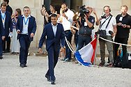 Kylian Mbappe during the reception of the French team at Elysée after winning the 2018 FIFA World Cup Russia on July 16, 2018 in Paris, France - Photo Stephane Allaman / ProSportsImages / DPPI