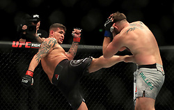 John Phillips (right) and Jack Marshman in action during their Middleweight bout during UFC Fight Night 147 at The O2 Arena, London.