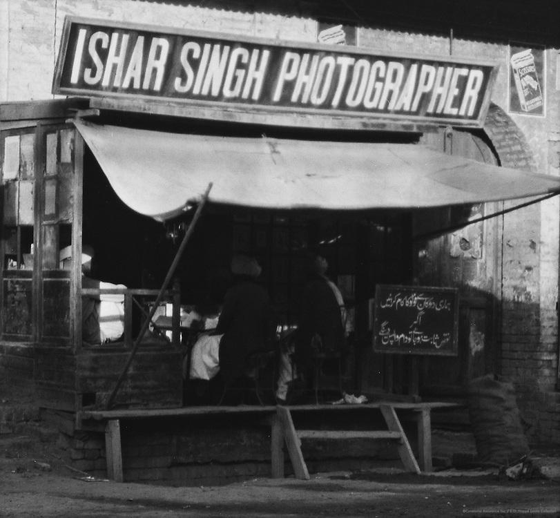 Photographers shop, Peshawar, India, 1929