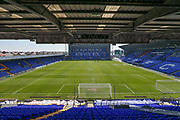 Prenton Park, home of Tranmere Rovers during the EFL Sky Bet League 2 match between Tranmere Rovers and Forest Green Rovers at Prenton Park, Birkenhead, England on 19 April 2019.