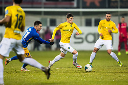 Zan Trontelj of NK Bravo during football match between NK Celje and NK Bravo in Round #22 of Prva liga Telekom Slovenije 2019/20, 26 February, 2020 in Stadium Z'Dezele, Celje, Slovenia. Photo By Grega Valancic / Sportida