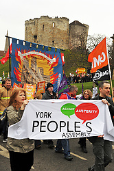 Better Way demo at the Lib Dem Spring Conference, York, 8th March 2014 UK