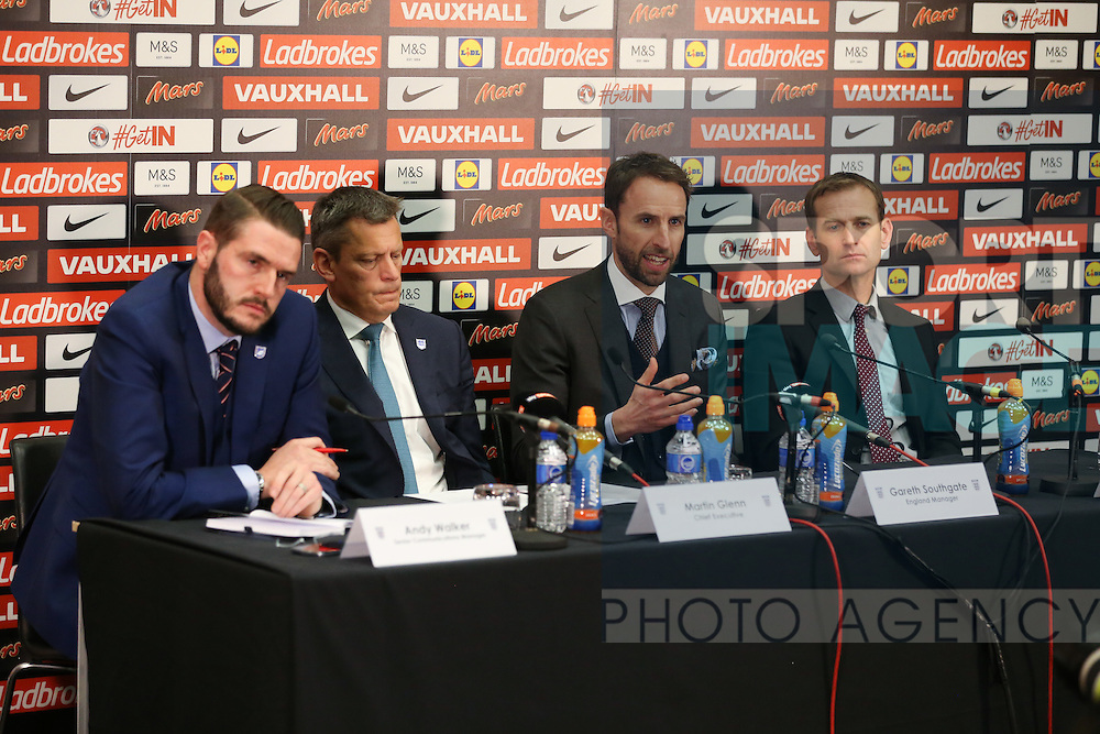 England's Gareth Southgate looks on during his press conference at Wembley Stadium, London. Picture date December 1st, 2016 Pic David Klein/Sportimage
