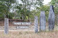 Entrance signage to Gorongosa National Park, Gorongosa National Park, Inhambane Province, Mozambique