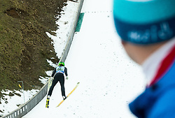 Spela Rogelj of Slovenia competes during Team Competition at Day 2 of World Cup Ski Jumping Ladies Ljubno 2019, on February 9, 2019 in Ljubno ob Savinji, Slovenia. Photo by Matic Ritonja / Sportida