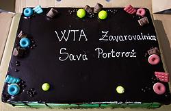 PORTOROZ, SLOVENIA - SEPTEMBER 19:  Ball boys after the Singles final during the WTA 250 Zavarovalnica Sava Portoroz at SRC Marina, on September 19, 2021 in Portoroz / Portorose, Slovenia. Photo by Vid Ponikvar / Sportida