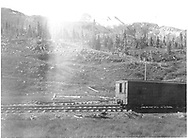 Box car #4426 on siding at summit of Red Mountain Pass.<br /> D&RG  Silverton RR Red Mountain Pass, CO  after 1900