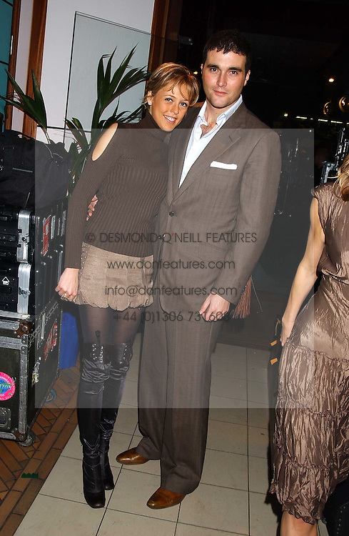 LADY ALEXANDRA SPENCER-CHURCHILL and DAVID PEACOCK at a party for the relaunch of Pizza on The Park, 11 Knightsbridge, London on 20th October 2005.<br /><br />NON EXCLUSIVE - WORLD RIGHTS