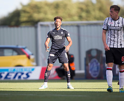 Falkirk's Myles Hippolyte cele scoring their second goal. Falkirk 2 v 0 Dunfermline, Scottish Challenge Cup played 7/9/2017 at The Falkirk Stadium.