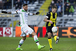 February 11, 2018 - Lier, BELGIUM - OHL's Esteban Casagolda and Lierse's Frederic Frans pictured in action during a soccer game between Lierse SK and OH Leuven, in Lier, Sunday 11 February 2018, on day 26 of the division 1B Proximus League competition of the Belgian soccer championship. BELGA PHOTO KRISTOF VAN ACCOM (Credit Image: © Kristof Van Accom/Belga via ZUMA Press)