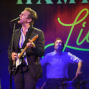 """WASHINGTON, DC - July 13th, 2014 - Hamilton Leithauser  and drummer Hugh McIntosh perform at The Hamilton in Washington, D.C. Leithauser, a D.C. native, released his first solo album this year while his former band, The Walkmen, are on a self-proclaimed """"extreme hiatus."""" (Photo by Kyle Gustafson / For The Washington Post)"""