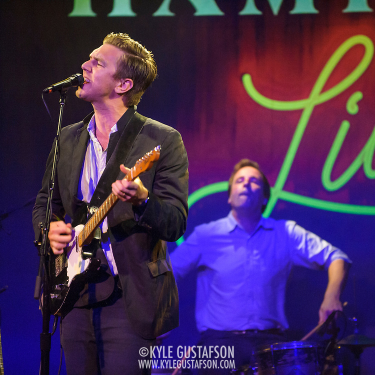"WASHINGTON, DC - July 13th, 2014 - Hamilton Leithauser  and drummer Hugh McIntosh perform at The Hamilton in Washington, D.C. Leithauser, a D.C. native, released his first solo album this year while his former band, The Walkmen, are on a self-proclaimed ""extreme hiatus."" (Photo by Kyle Gustafson / For The Washington Post)"