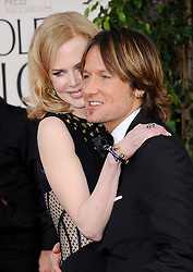 Nicole Kidman and Keith Urban arriving for the 70th Annual Golden Globe Awards Ceremony, held at the Beverly Hilton Hotel in Los Angeles, CA on January 13, 2013. Photo by Lionel Hahn / ABACAPRESS.COM    348280_126