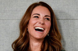 The Duchess of Cambridge at the Anna Freud Centre in London where she opened their new building, The Kantor Centre of Excellence.