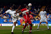 Photo: Jed Wee.<br />Tranmere Rovers v Bristol City. Coca Cola League 1. 22/04/2006.<br /><br />Bristol City's Mark McCammon (R) is tackled by Tranmere's Ian Goodison.