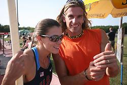 Jurij Rovan and Erica Bartolina of USA at 23rd International Meeting Brezice 2008, on September 10, 2008, Brezice, Slovenia.   (Photo by Vid Ponikvar / Sportal Images).