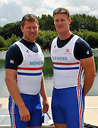Reading, Great Britain, GBR M2X. left. Matt WELLS and Marcus BATEMAN. 2011 GBRowing World Rowing Championship, Team Announcement.  GB Rowing  Caversham Training Centre.  Tuesday  19/07/2011  [Mandatory Credit. Peter Spurrier/Intersport Images]