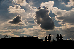 July 13, 2018 - Moscow, Russia - 180713 General view of people in silhouettes during the FIFA World Cup on July 13, 2018 in Moscow..Photo: Petter Arvidson / BILDBYRN / kod PA / 92086 (Credit Image: © Petter Arvidson/Bildbyran via ZUMA Press)