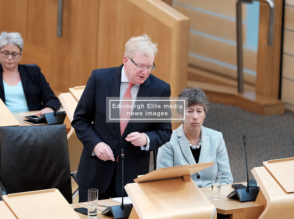First Minister's Questions in the Scottish Parliament<br /> <br /> Thursday, 19th September 2019<br /> <br /> Pictured: Scottish Conservative interim leader Jackson Carlaw MSP and Liz Smith MSP<br /> <br /> Alex Todd   Edinburgh Elite media