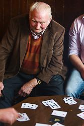 Men playing cards in Gaynor's Pub, Leenaun, County Galway, Ireland