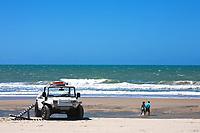 buggy tour and prainha beach near fortaleza in ceara state in brazil
