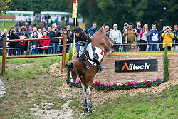 Alex Hua Tian, (CHN), Harbour Pilot C - Eventing Cross Country test - Alltech FEI World Equestrian Games™ 2014 - Normandy, France.<br /> © Hippo Foto Team - Leanjo de Koster<br /> 31/08/14