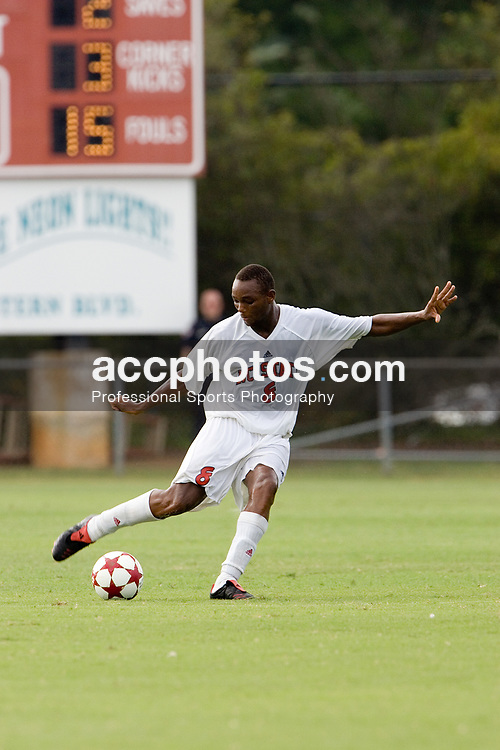 25 September 2005 - El Hadj Cisse #8 of North Carolina State Men's Soccer during a 1-0 victory over the University of Maryland Terrapins at Method Road Field in Raleigh, NC.<br /> <br /> Mandatory Credit: Peyton Williams/NC State Univ.