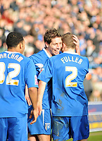 Photo: Tony Oudot/Richard Lane Photography. Gillingham v Shrewsbury Town. Coca-Cola Football League Two. 28/02/2009. <br /> GOAL! Nicky Southall celebrates with team mates after putting Gillingham two up