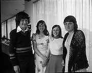 Seafood Cook in Rosslare 07/05/1976.05/07/1976.7th May 1976.Pictured from left to right, John Foley, Vocational School, Killorglin, Co.Kerry, Mary Cahill, St. Enda's Community School, Limerick, Joyce Sweetnam, Vocational School, Skibbereen, Co. Cork, Ursula O'Neill, Convent of Mercy, Clonakility, Co. Cork.