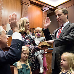 Austin, Texas January 2, 2018:  Ceremonial swearing in of Justice Don Willett to the 5th ircuit Court of Appeals and Justice Jimmy Blacklock to the Texas Supreme Court.  Appearances by U.S. Sen. John Cornyn and Texas Gov. Greg Abbott.