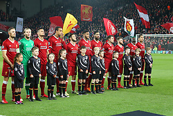 March 6, 2018 - Liverpool, U.S. - 6th March 2018, Anfield, Liverpool, England; UEFA Champions League football, round of 16, 2nd leg, Liverpool versus FC Porto; the Liverpool team line up before the kick off (Photo by Dave Blunsden/Actionplus/Icon Sportswire) ****NO AGENTS---NORTH AND SOUTH AMERICA SALES ONLY****NO AGENTS---NORTH AND SOUTH AMERICA SALES ONLY* (Credit Image: © Dave Blunsden/Icon SMI via ZUMA Press)