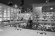 New York City: Lincoln Center Decorated for Christmas