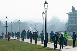 © Licensed to London News Pictures 23/01/2021.        Blackheath, UK. People get out of their homes from a third Coronavirus lockdown to enjoy some permitted exercise on Blackheath Common in London. Photo credit:Grant Falvey/LNP