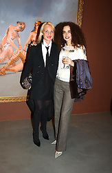 Left to right, AMANDA ELIASCH and DANIELLE MOUDABBET at an exhibition of paintings by artist George Condo entitled 'Religious Paintings' held at the Spruth Magers Lee Gallery, 12 Berkeley Street, London W1 on 12th October 2004.<br /><br />NON EXCLUSIVE - WORLD RIGHTS