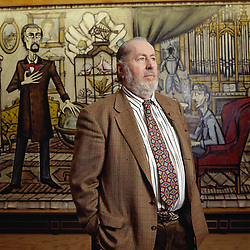 Files - French painter Bernard Buffet poses in front of a work Twenty Thousand Leagues Under the Sea at the Maurice Garnier gallery in Paris, France, in 1987. The Musée d'Art Moderne de la Ville de Paris is organising a retrospective of the work of Bernard Buffet (1928–1999), one of the most famous French painters of the 20th century, From 14 October 2016 to 26 February 2017. Photo by Pascal Baril/Planete Bleue Images/ABACAPRESS.COM
