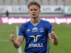 André Riel (Lyngby Boldklub) efter kampen i 3F Superligaen mellem Lyngby Boldklub og Hobro IK den 20. juli 2020 på Lyngby Stadion (Foto: Claus Birch).