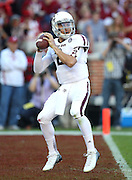 TUSCALOOSA, AL - NOVEMBER 10:  Quarterback Johnny Manziel #2 of the Texas A&M Aggies drops back to pass during the game against the Alabama Crimson Tide at Bryant-Denny Stadium on November 10, 2012 in Tuscaloosa, Alabama.  (Photo by Mike Zarrilli/Getty Images)
