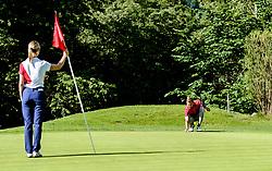 THEMENBILD - Zwei Golfspieler am Golfclub Eichenheim, aufgenommen am 04. Juli 2017, Kitzbühel, Österreich // Two golfers at the Eichenheim Golfclub at Kitzbühel, Austria on 2017/07/04. EXPA Pictures © 2017, PhotoCredit: EXPA/ Stefan Adelsberger