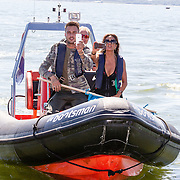 NLD/Muiden/20160825 - Perspresentatie deelnemers Expeditie Robinson 2016, Dave Roelvink en Suzanne Kleeman