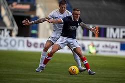 Livingston Lyndon Dykes and Falkirk's Ross MacLean. Falkirk 1 v 1 Livingston, Livingston win 4-3 on penalties. BetFred Cup game played 13/7/2019 at The Falkirk Stadium.