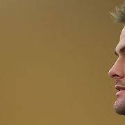 New Zealand captain Richie McCaw during a press conference in Auckland at the IRB Rugby World Cup tournament, Auckland, New Zealand, 22nd October 2011. Photo Tim Clayton...