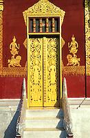 Laos, Province de Luang Prabang, ville de Luang Prabang, Patrimoine mondial de l'UNESCO depuis 1995, temple Wat Mai // Laos, Province of Luang Prabang, city of Luang Prabang, World heritage of UNESCO since 1995, temple Wat Mai