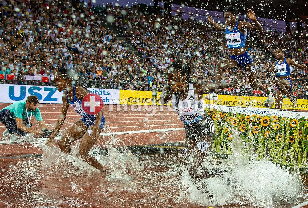 Hyvin KIYENG of Kenya competes in the Women's 3000m Steeplechase during the Iaaf Diamond League meeting (Weltklasse Zuerich) at the Letzigrund Stadium in Zurich, Switzerland, Thursday, Aug. 29, 2019. (Photo by Patrick B. Kraemer / MAGICPBK)
